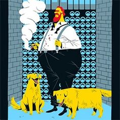 A series of illustrations depicting the Seven Deadly Sins in a modern contemporary way by Vincent Mahé.