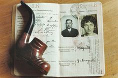 René Magritte's pipe & passport