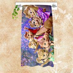 Fashion Design Custom Big Size 140cmx70cm Cotton Bath Towel Alvin and the Chipmunks Shower Towel For your family SQ00715-@H0252