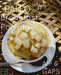 AIP Apple Cinnamon Breakfast Porridge {GAPS, Paleo} - Eat Beautiful