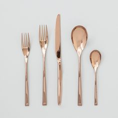 Rose Gold (copper) Sambonet H Art 5 piece Place Setting