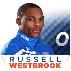My second favorite player! Okc Basketball, Oklahoma City Thunder Basketball, Basketball Quotes, Westbrook Okc, Russell Westbrook, Thunder Players, Chesapeake Energy Arena, Thunder Strike, Sport Icon