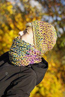 Čiapky - rozliala sa jeseni farba:) čiapka k nákrčníku - 7328099_