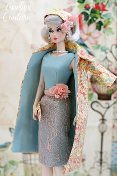 OOAK Silkstone Barbie Fashion by Katia - Paisley Pink www.loveliescouture.blogspot.com