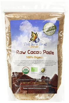 The Raw Food World Pasta Naturale Biologica di Cacao (453g)