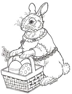 Hoppi Coloring Page Make your world more colorful with free printable coloring pages from italks. Our free coloring pages for adults and kids. Easter Coloring Pages, Animal Coloring Pages, Coloring Book Pages, Printable Coloring Pages, Coloring Pages For Kids, Vintage Embroidery, Embroidery Patterns, Easter Art, Digi Stamps