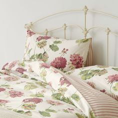 Geranium Cranberry Cotton Bedset at Laura Ashley