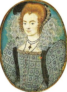 1578 Unknown Lady by Nicholas Hilliard [Elizabethan]