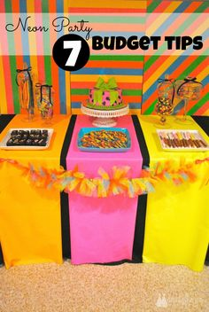 Neon Party: 7 Budget Tips by Double the Fun Parties