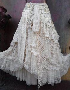 59 New Ideas Shabby Chic Boho Fashion Skirts Bohemian Skirt, Gypsy Skirt, Boho Skirts, Wrap Skirts, Gypsy Style, Bohemian Style, Boho Gypsy, Shabby Chic Style, Boho Chic