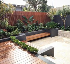 Steep Gardens, Small Courtyard Gardens, Small Backyard Gardens, Backyard Garden Design, Outdoor Gardens, Small Garden Landscape, Landscape Design Plans, Garden Design Ideas On A Budget, Rooftop Design