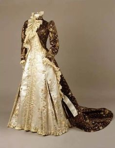 Charles Frederick Worth gown: Charles Fredrick, 1890 1895, Teas Gowns, Fredrick Worth, Ontario Museums,