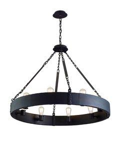 Jackson 36″ 8 Light Chandelier in Copper Bronze