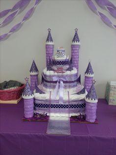 diaper cake castle.