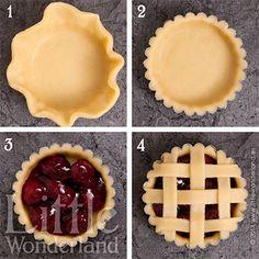 Mini cherry pies   Tartaletas de cereza
