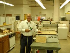 """Al Tuten and the Laguna CNC IQ 2. THANK YOU AL TUTEN! MAKING A DIFFERENCE WITH THE POWER OF LAGUNA!    """"This is our new machine at RCI. I am the instructor for this machine and another 4x8 machine in our program. The machine is great and my students are very excited as to what they are learning to do on this machine.    I teach in a prison setting in South Carollina. We just recently acquired the Lguna IQ and it is quite the machine. The inmates I teach are just exstatic about it."""