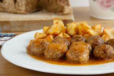 Albóndigas de carne con salsa de vino blanco - MisThermorecetas