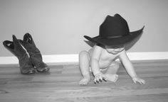 Adorable!! Little cowboy, 1 year old!