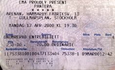 PANTERA – April 17th 2000, Stockholm, Arenan