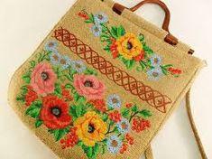 Resultado de imagem para burlap embroidery