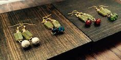 Jasper stones earrings