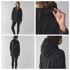 LULULEMON Rain for Daze Jacket Sz 12 black/smdk LULULEMON Rain for Daze Jacket Sz 12 black/smdk.  NWT.    ❌TRADES❌ REASONABLE OFFERS WILL BE ACCEPTED  lululemon athletica Jackets & Coats