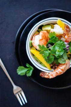 Garnelen-Mango-Avocado-Salat © trickytine
