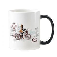 Bicycle Lady France Mark Landmark National Flag Architecture Custom Landscape Illustration Pattern Morphing Heat Sensitive Changing Color Mug Cup Milk Coffee With Handles 350 ml #Mug #Bicycle #Cup #Lady #ChangingColorMug #France #Beermug #Landmark #Coffeemug #Architecture #Coffeecup #Custom #Caneca #Landscape #Teacup #Illustration #Milkcup #CeramicMug #BirthdayGift