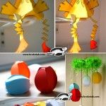 The eggs could also be used for basic small lanterns or hanging decorations.