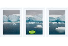 Antartica Green Tube Triptych
