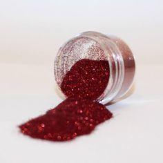 Rode glitters voor glittertattoos mogen natuurlijk niet ontbreken met Sinterklaas!
