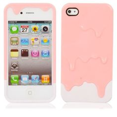 Melting Ice Cream Hard Plastic Back Case Cover for iPhone 4 4S Pink + White by Crazy Cart, http://www.amazon.com/dp/B009VB18W8/ref=cm_sw_r_pi_dp_kH8Xqb1DY6CZH