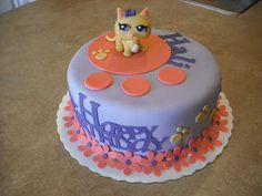 Sprinklebelle: Littlest Pet Shop Cake Simple and cute