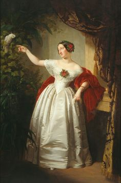 ca. 1840 (based on estimated age of subject) Alexandrine of Baden, Duchess of Saxe-Coburg und Gotha by ? (location unknown to gogm) | Grand Ladies | gogm