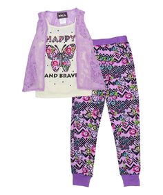 Lavender Butterfly Tank Set - Girls
