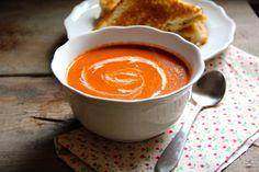 Roasted Tomato Soup #fall #recipe #vegetarian