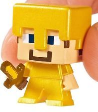 NEW SEALED Minecraft Mini-Figure GOLD ARMOR STEVE Mystery Surprise Blind Box!