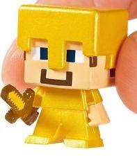 NEW SEALED Minecraft Mini-Figure GOLD ARMOR STEVE Mystery Surprise Blind Box!