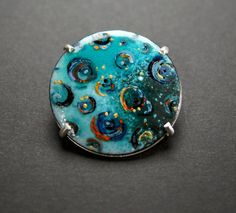 Torch-fired constellation necklace stars sky turquoise by 1500degreesArtwear on Etsy