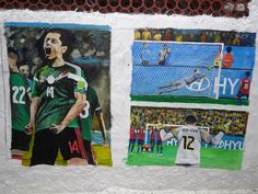 Javier Hernandez scores for Mexico. Julio Cesar saves a penalty against Chile.