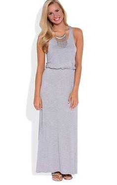 Deb Shops Blouson Maxi Dress with Racerback $15.90