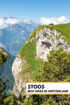 This 'bucket list' ridge hike at Stoos near Lucerne Switzerland has panorama views of mountains, lakes and alpine meadows. Plus you get to ride the steepest funicular in the world and there's a playground at the top with epic views over the cliffs. This well built trail is suitable for casual hikers and families with experience hiking. Trail map and details on our website. Best Of Switzerland, Lucerne Switzerland, Hiking Europe, Road Trip Europe, Best Places To Travel, Places To Visit, Trail Signs, Alpine Village, Alpine Meadow