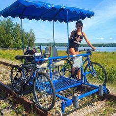 Les Vélorails de Beaulac-Garthby rail bikes will bring you through a forest and along the picturesque Lake Aylmer, in the Chaudière-Appalaches regi. Vacation Destinations, Vacation Spots, Vacation Places, Places To Travel, Places To See, Vacations, Voyage Canada, Ontario Travel, Beautiful Places To Visit