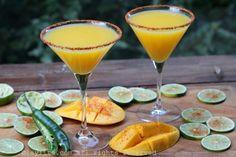 Spicy mango margaritas