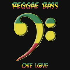 """""""Reggae Bass -- One Love"""" by Samuel Sheats on Redbubble. Available as T-Shirts & Hoodies, iPhone Cases, Samsung Galaxy Cases, Home Decors, Tote Bags, Pouches, Prints, Cards, Kids Clothes, iPad Cases, Laptop Skins, Drawstring Bags, Laptop Sleeves, and Stationeries. #reggae #bass #bassguitar #bassplayer #music #onelove #rasta #rastafarian #marley #jamaica"""