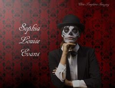 Skeleton themed makeup with sophia.
