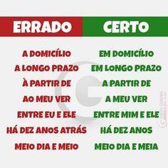 Resultado de imagem para dicas de portugues #studyportuguese