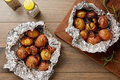 Hobo Pack Potatoes with Rosemary and Garlic recipe