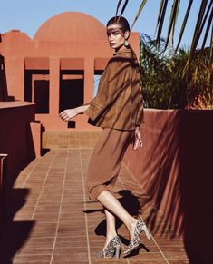 Ophelie Guillermand   Neutral Fashion Editorial   Harper's Bazaar