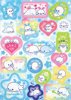 "San-X Mamegoma ""Wings"" Memo (B) (Stickers) 